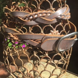 Fossil Accessories - *Fossil* Distressed Silver Braided Leather Belt